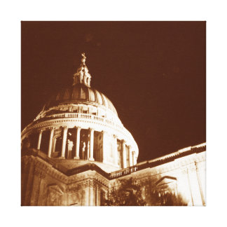 St Paul s Cathedral – Sepia Gallery Wrapped Canvas