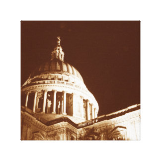 St Paul s Cathedral – Sepia Stretched Canvas Prints
