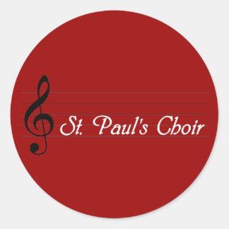 St Paul s Choir Round Sticker