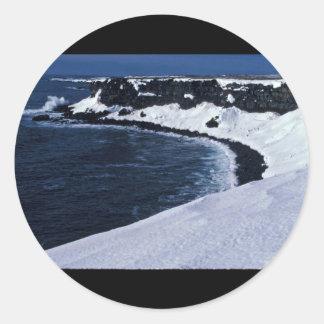 St. Paul seabird cliffs, Bering Sea Round Sticker