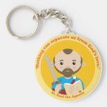 St. Paul the Apostle Basic Round Button Keychain