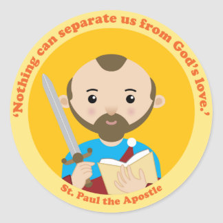 St. Paul the Apostle Round Stickers