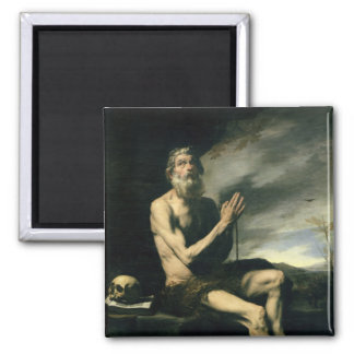 St. Paul the Hermit 2 Inch Square Magnet