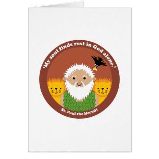 St. Paul the Hermit Card