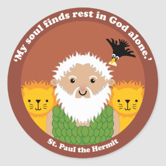 St. Paul the Hermit Classic Round Sticker