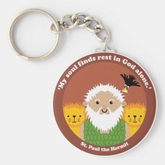 St. Paul the Hermit Keychain
