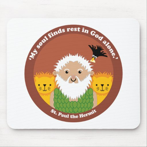 St. Paul the Hermit Mouse Pad