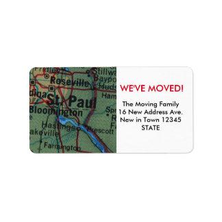St Paul We've Moved label