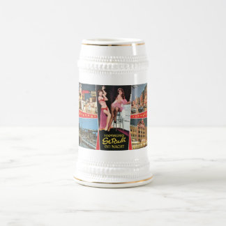 St Pauli by Night Hamburg Germany Vintage Coffee Mugs