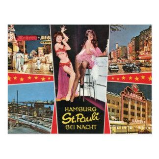 St. Pauli by Night, Hamburg, Germany Vintage Post Cards