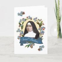 St. Paulina (Pauline) Patron Saint of Diabetics Holiday Card