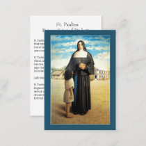 St. Paulina Saint of Diabetics/Diabetes Holy Card