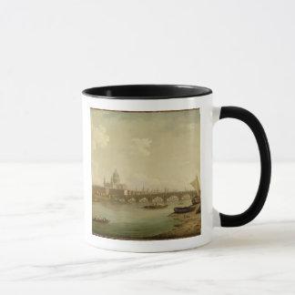 St. Paul's and Blackfriars Bridge, London, c.1770- Mug