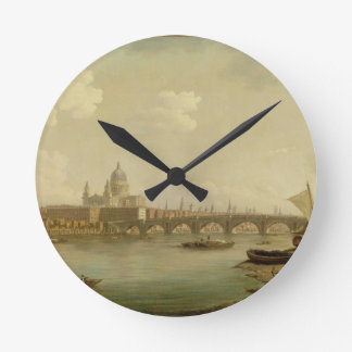 St. Paul's and Blackfriars Bridge, London, c.1770- Round Clock