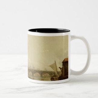 St. Paul's and Blackfriars Bridge, London, c.1770- Two-Tone Coffee Mug
