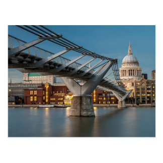 St Pauls and the Millenium Bridge Postcard