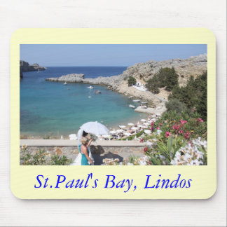 St.Paul's Bay, Lindos Mouse Pad