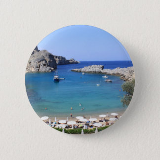St.Paul's Bay, Lindos Pinback Button