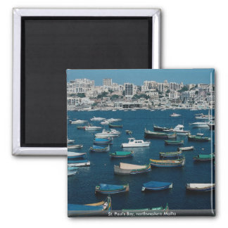 St. Paul's Bay, northwestern Malta 2 Inch Square Magnet