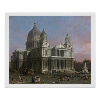 St. Paul's Cathedral, 1754 (oil on canvas) Poster