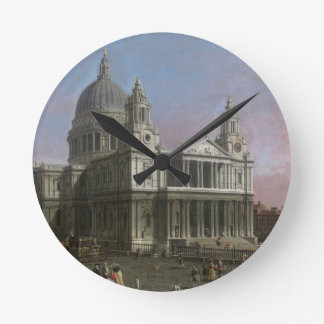 St. Paul's Cathedral, 1754 (oil on canvas) Round Clock