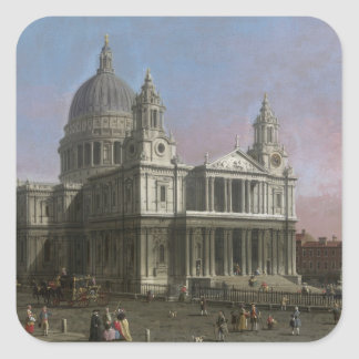 St. Paul's Cathedral, 1754 (oil on canvas) Square Sticker