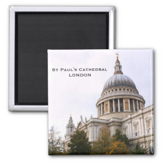 St Paul's Cathedral 2 Inch Square Magnet