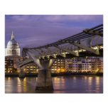 St Pauls Cathedral and City Skyline Poster