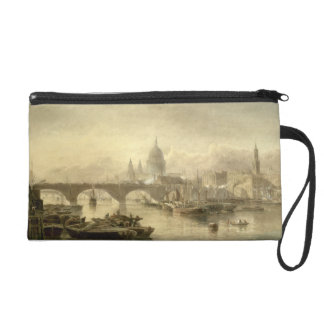 St. Paul's Cathedral and London Bridge from the Su Wristlet Purse