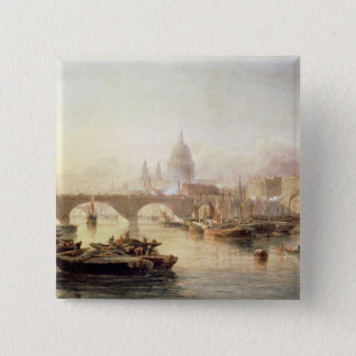 St. Paul's Cathedral and London Bridge Pinback Button