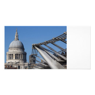 St Pauls Cathedral And The Millenium Bridge Card