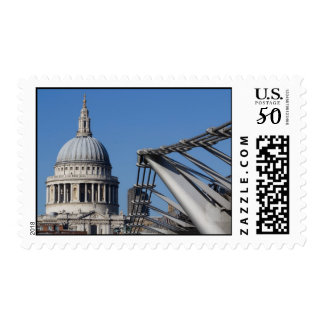 St Paul's Cathedral And The Millenium Bridge Postage