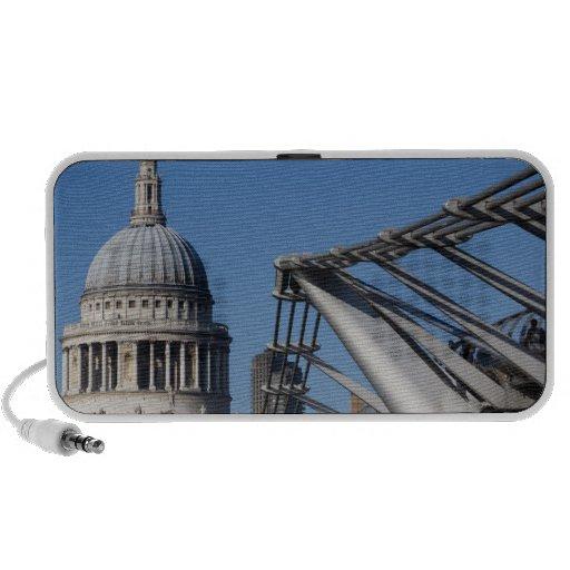 St Pauls Cathedral And The Millenium Bridge Mini Speaker