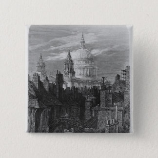 St. Paul's Cathedral and the slums Button