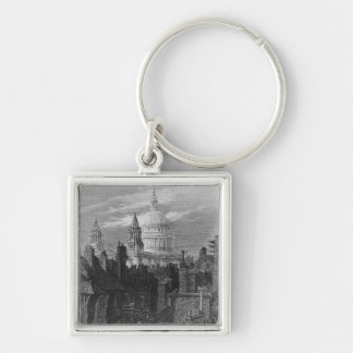 St. Paul's Cathedral and the slums Key Chain