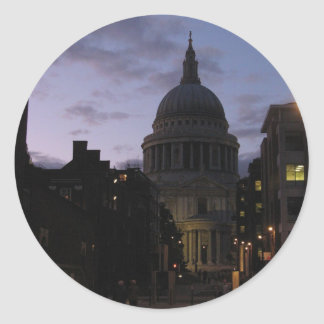 St. Paul's Cathedral at Twilight Classic Round Sticker