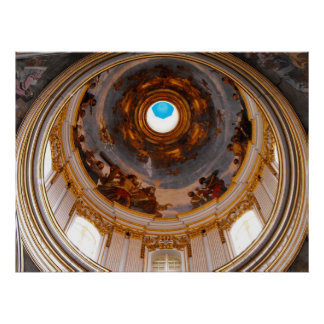 St Paul's Cathedral ceiling, Mdina Poster