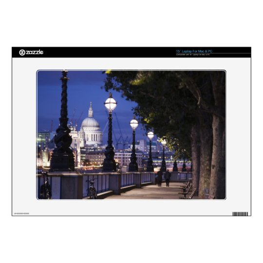 """St. Paul's Cathedral Decals For 15"""" Laptops"""