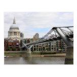 'St.Paul's Cathedral, from Millennium Bridge Postcard