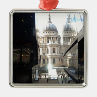 St Paul's Cathedral from One New Change Square Metal Christmas Ornament