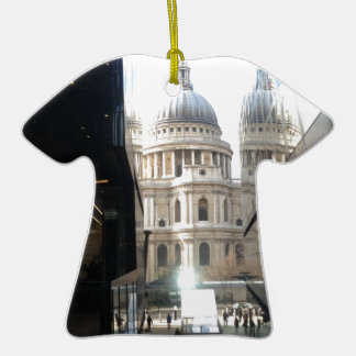 St Paul's Cathedral from One New Change Double-Sided T-Shirt Ceramic Christmas Ornament