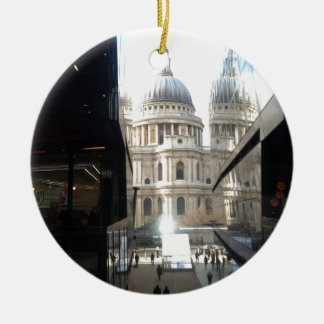 St Paul's Cathedral from One New Change Double-Sided Ceramic Round Christmas Ornament