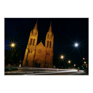 St Paul's Cathedral in Adelaide, South Australia Poster