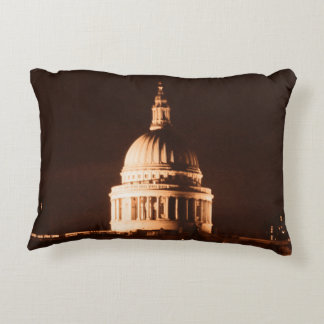 St Pauls Cathedral in Sepia & Dry Brush Effect Accent Pillow