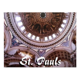 St Pauls cathedral interior London postcard