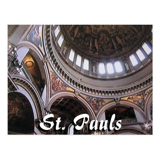 St Pauls cathedral interior London postcard