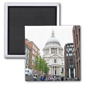 St Paul's Cathedral, London 2 Inch Square Magnet