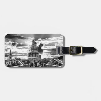 St Paul's Cathedral, London - Black and White Travel Bag Tags