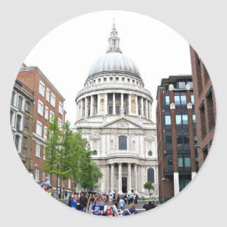 St Paul's Cathedral, London Classic Round Sticker