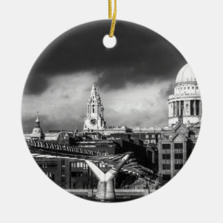 St Pauls Cathedral London Double-Sided Ceramic Round Christmas Ornament